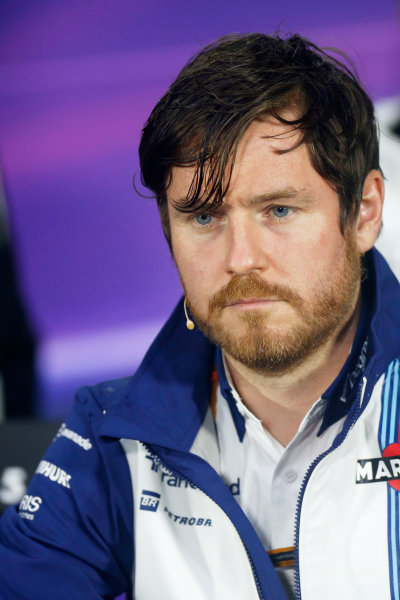 Circuit Gilles Villeneuve, Montreal, Canada. Friday 5 June 2015. Rob Smedley, Head of Vehicle Performance, Williams F1, in the Team Principals Press Conference. World Copyright: Alastair Staley/LAT Photographic. ref: Digital Image _79P1569