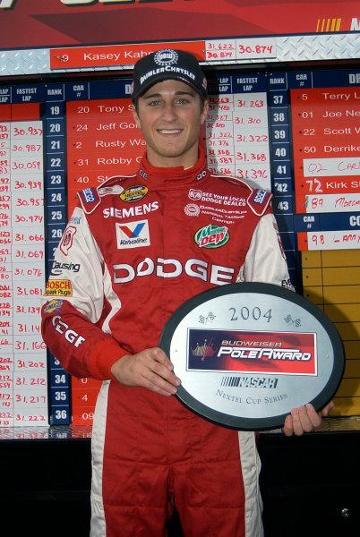 05-07 March 2004,Las Vegas Motor Speedway, UAW DaimlerChrysler 400,Kasey Kahne wins pole,Copyright-Robt LeSieur 2004LAT Photographic