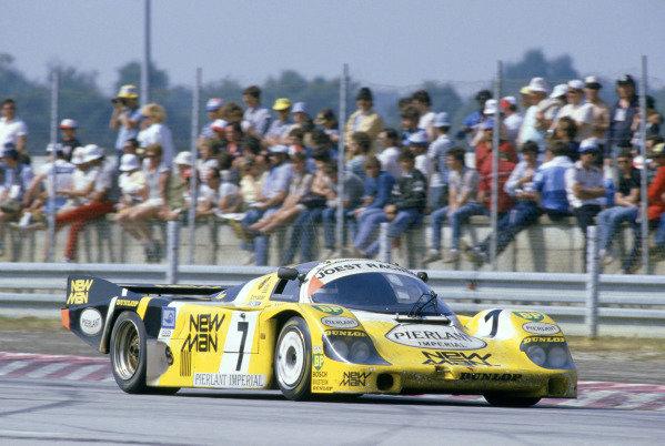 1984 Le Mans 24 hours.Le Mans, France. 16-17 June 1984.Klaus Ludwig/Henri Pescarolo (Porsche 956), 1st position.World Copyright: LAT Photographic. Ref: 84LM16.
