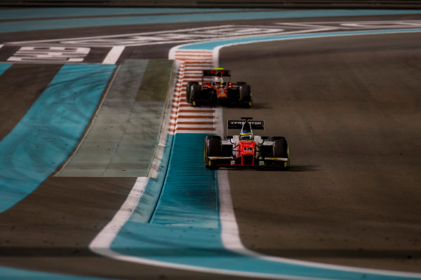 2017 FIA Formula 2 Round 11. Yas Marina Circuit, Abu Dhabi, United Arab Emirates. Saturday 25 November 2017. Sergio Sette Camara (BRA, MP Motorsport).  Photo: Zak Mauger/FIA Formula 2. ref: Digital Image _X0W9021