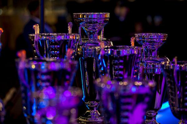2017 Awards Evening. Yas Marina Circuit, Abu Dhabi, United Arab Emirates. Sunday 26 November 2017. Trophies. Photo: Zak Mauger/FIA Formula 2/GP3 Series. ref: Digital Image _X0W0148