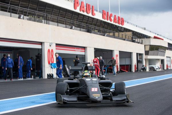 2018 GP3 Series Test 1. Circuit Paul Ricard, Le Castellet, France. Thursday 22 February 2018. Alessio Lorandi (ITA, Trident) Photo: Andrew Ferraro/GP3 Series Media Service. ref: Digital Image _X0W8864