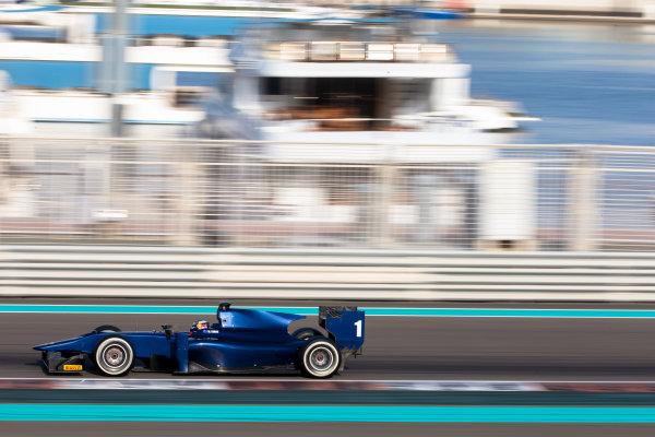 2014 GP2 Series Test 1  Yas Marina Circuit, Abu Dhabi, UAE.  Wednesday 12 March 2014. Mitch Evans (NZL) RT Russian Time  Photo: Malcolm Griffiths/GP2 Series Media Service ref: Digital Image F80P5125
