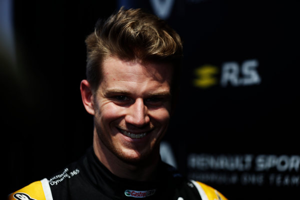 Renault  RS17  Formula 1 Launch. The Lindley Hall, London, UK. Tuesday 21 February 2017. Nico Hulkenberg, Renault Sport F1.  World Copyright: Glenn Dunbar/LAT Images Ref: _X4I0001