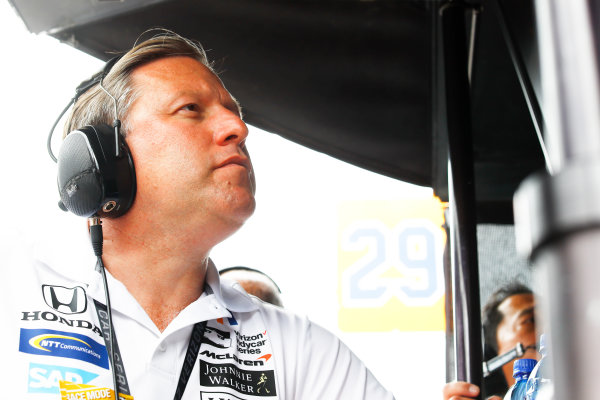 Verizon IndyCar Series Indianapolis 500 Race Indianapolis Motor Speedway, Indianapolis, IN USA Sunday 28 May 2017 Zak Brown, McLaren. World Copyright: Steven Tee/LAT Images ref: Digital Image _R3I8737
