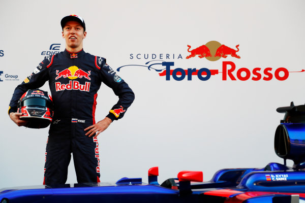 Toro Rosso STR12 Formula 1 Launch. Barcelona, Spain  Sunday 26 February 2017. Daniil Kvyat, Toro Roso    World Copyright: Dunbar/LAT Images Ref: _X4I9660