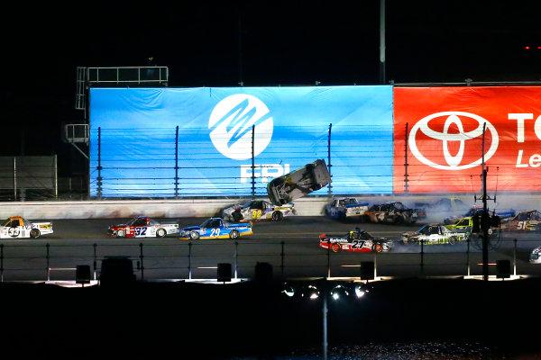 2017 Camping World Truck - NextEra Energy Resources 250 Daytona International Speedway, Daytona Beach, FL USA Friday 24 February 2017 Matt Crafton flips on the backstretch World Copyright: Russell LaBounty/LAT Images ref: Digital Image 17DAY2rl_04662
