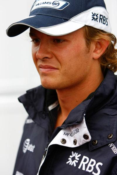 Spa Francorchamps, Spa, Belgium.6th September 2008.Nico Rosberg, Williams FW30 Toyota. Portrait. World Copyright: Charles Coates/LAT Photographicref: Digital Image _26Y8370
