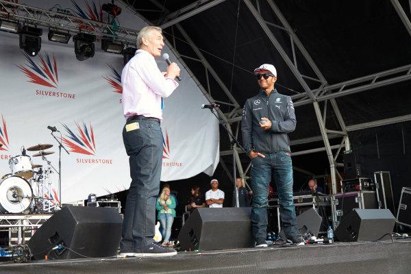 Silverstone, Northamptonshire, England. Sunday 6 July 2014. Lewis Hamilton, Mercedes AMG. World Copyright: Steve Etherington/LAT Photographic. ref: Digital Image SNE20573