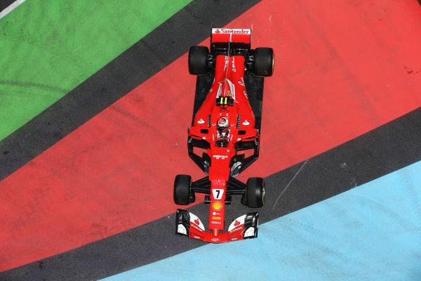 Baku City Circuit, Baku, Azerbaijan. Friday 23 June 2017. Kimi Raikkonen, Ferrari SF70H, drives onto a run-off area in FP1. World Copyright: Charles Coates/LAT Images ref: Digital Image DJ5R2803