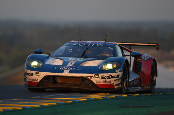 2017 Le Mans 24 Hours Circuit de la Sarthe, Le Mans, France. Sunday 18 June 2017 #67 Ford Chip Ganassi Racing Ford GT: Andy Priaulx, Harry Tincknell, Pipo Derani World Copyright: Rainier Ehrhardt/LAT Images ref: Digital Image 24LM-re-14603