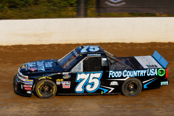 {NASCAR Camping World Truck Series Eldora Dirt Derby Eldora Speedway, Rossburg, OH USA Tuesday 18 July 2017 Caleb Holman, Food Country USA / Lopez Wealth Management Chevrolet Silverado World Copyright: Russell LaBounty LAT Images