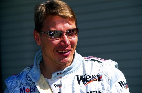 Race winner Mika Hakkinen (FIN) McLaren also celebrated his 33rd birthday at the weekend. United States Grand Prix, Indianapolis, 30 September 2001 BEST IMAGE