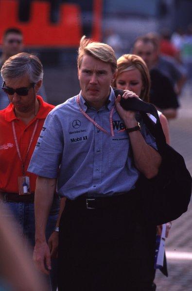 1999 Italian Grand Prix.Monza, Italy.10-12 September 1999.Mika Hakkinen (McLaren Mercedes).Ref-99 ITA 20.World Copyright - LAT Photographic