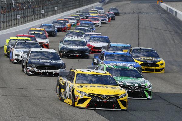 #20: Erik Jones, Joe Gibbs Racing, Toyota Camry STANLEY and #18: Kyle Busch, Joe Gibbs Racing, Toyota Camry M&M's Interstate Batteries
