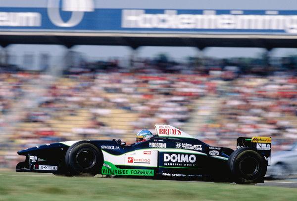 1996 German Grand Prix.Hockenheim, Germany. 26-28 July 1996.Giovanni Lavaggi (Minardi M195B Ford).Ref-96 GER 33.World Copyright - LAT Photographic