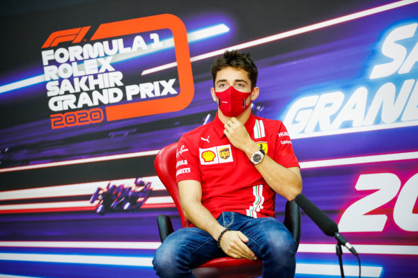 Charles Leclerc, Ferrari, in the Press Conference