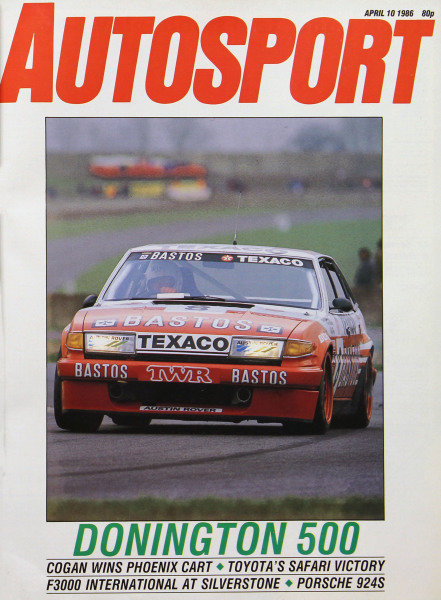 Cover of Autosport magazine, 10th April 1986