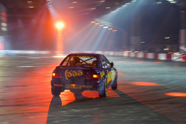 A 555 Subaru rally car in the Live Action Arena.