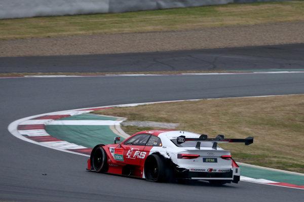 Rene Rast, Audi Sport Team Rosberg Audi RS5 DTM with a flat tire.