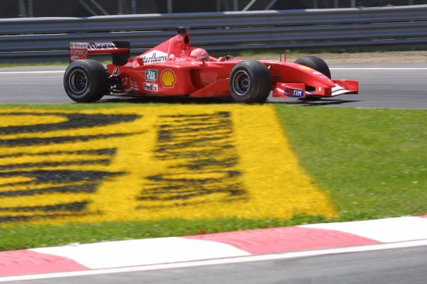 2001 Canadian Grand Prix - RACEMontreal, Canada. 10th June 2001.Michael Schumacher (Ferrari), 2nd position.World Copyright - LAT PhotographicRef: 8 9 MB Digital File Only