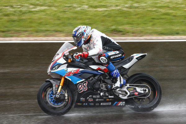 Markus Reiterberger, BMW Motorrad WorldSBK Teamon wet assessment laps.