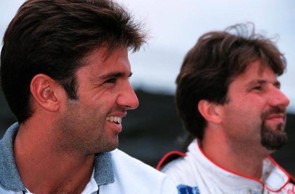 1999 CART Chicago GP, 22/8/99Christian Fittipaldi and Michael Andretti-1999, Michael L. Levitt, USALAT PHOTOGRAPHIC