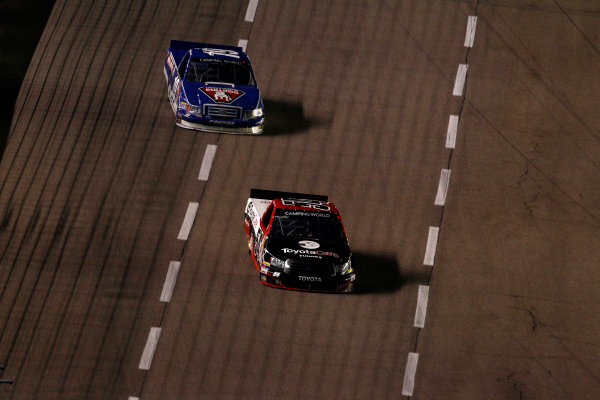 6-7 June, 2013, Fort Worth, Texas USA Darrell Wallace, Jr. leads Ross Chastain ©2013, Phillip Abbott LAT Photo USA