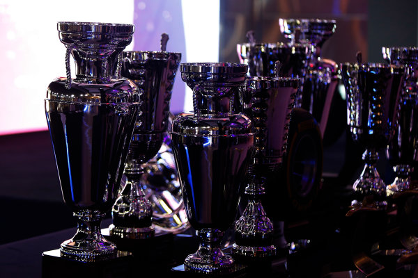 2013 GP2/3 Awards Evening. Yas Marina Circuit, Abu Dhabi, United Arab Emirates. Sunday 23 November 2014. The trophies. Photo: Zak Mauger/GP3 Series Media Service. ref: Digital Image _L0U8585