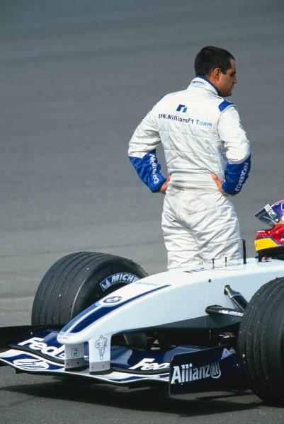 2003 Formula One Testing, Silverstone, Egland.19th June 2003.Juan Pablo Montoya.World Copyright LAT photographic.