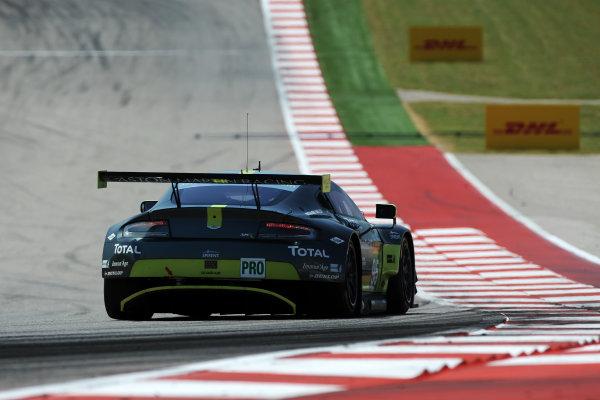 2017 FIA World Endurance Championship, COTA, Austin, Texas, USA. 14th-16th September 2017, #95 Aston Martin Racing Aston Martin Vantage: Nicki Thiim, Marco Sorensen  World Copyright. May/JEP/LAT Images