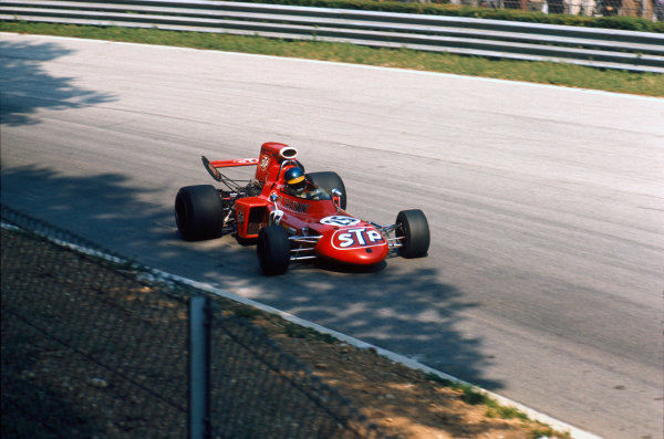 Monza, Italy. 3 - 5 September 1971.Ronnie Peterson (March 711-Ford), 2nd position.  Ref: 71ITA65. World Copyright: LAT Photographic.