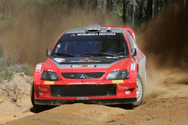 2005 FIA World Rally Champs. Round Sixteen, Rally Australia.10th - 13th November 2005.Harri Rovanpera, Mitsubishi, action.World Copyright: McKlein/LAT