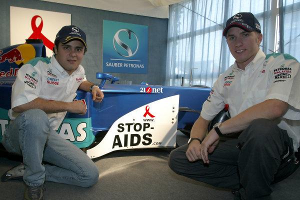 2002 American Grand PrixIndianapolis, USA. 26th September 2002.Nick Heidfeld and Felipe Massa.World Copyright - Pan Images/LAT Photographicref: Digital File Only