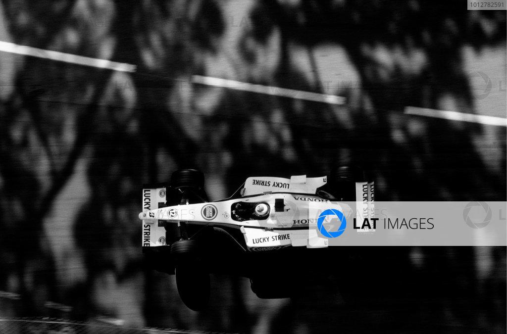 2003 Racing Past. . Exhibition2002 Monaco Grand Prix, Monte Carlo. Jacques Villeneuve (BAR 004-Honda).World Copyright - LAT PhotographicExhibition ref: a070