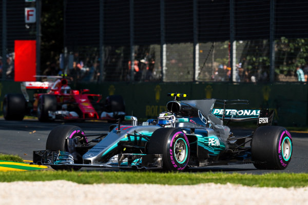 Valtteri Bottas (FIN) Mercedes-Benz F1 W08 Hybrid at Formula One World Championship, Rd1, Australian Grand Prix, Race, Albert Park, Melbourne, Australia, Sunday 26 March 2017.