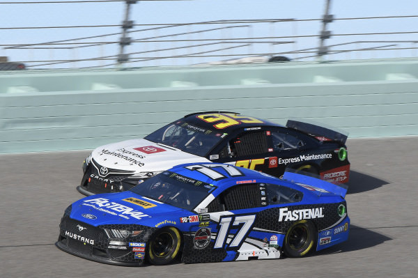 #17: Ricky Stenhouse Jr., Roush Fenway Racing, Ford Mustang Fastenal, #95: Matt DiBenedetto, Leavine Family Racing, Toyota Camry Toyota Express Maintenance