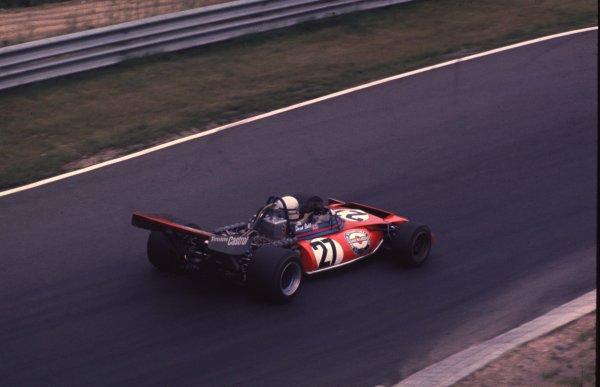 1972 German Grand Prix.Nurburgring, Germany.28-30 July 1972.Derek Bell (Tecno PA123). Ref: 72GER91. World Copyright - LAT Photographic