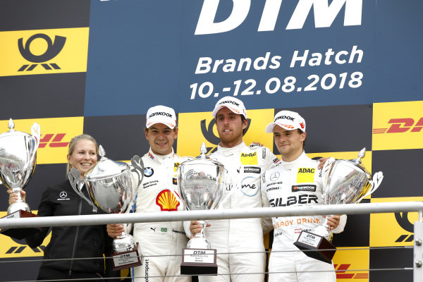 Podium: Race winner Daniel Juncadella, Mercedes-AMG Team HWA, second place Augusto Farfus, BMW Team RMG, third place Lucas Auer, Mercedes-AMG Team HWA.
