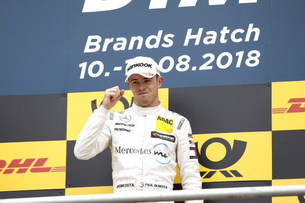 Podium: Race winner Paul Di Resta, Mercedes-AMG Team HWA.