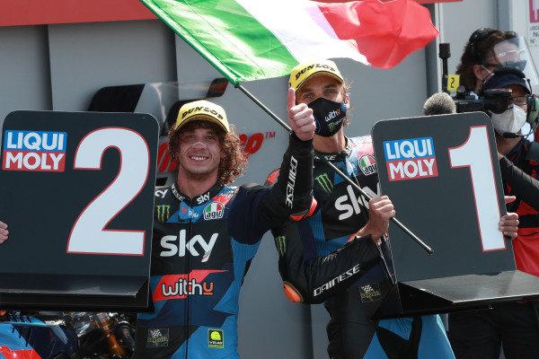 Marco Bezzecchi, Sky Racing Team VR46 , Luca Marini, Sky Racing Team VR46.