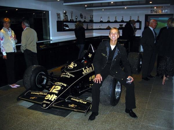 Johnny Bute (GBR), the seventh Marquis of Bute, and host of the Mount Stuart Classic, with the Lotus Renault 98T he drove in the 1986 Formula One season.Mount Stuart Classic, Isle of Bute, Scotland. 20-21 September 2003.DIGITAL IMAGE