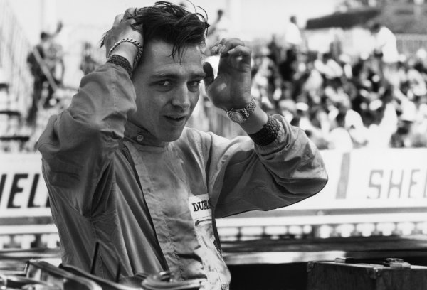 Monte Carlo, Monaco. 23-26 May 1963.Trevor Taylor (Lotus 25 Climax) 6th position, portrait.World Copyright: LAT Photographic.Ref: 19673.