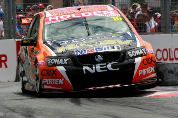 Garth Tander (aust) Toll HSV Commodore won 2 of 3 races and won the round   Rd 11 V8 Supercar Championship Lexmark Indy 300 Surfers Paradise Gold Coast Qld