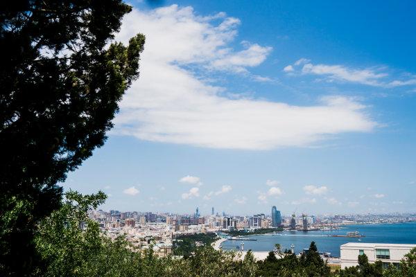 Baku City Circuit, Baku, Azerbaijan. Wednesday 21 June 2017. A view of the city from Dagustu (Upland) Park. World Copyright: Glenn Dunbar/LAT Images ref: Digital Image DSC01387