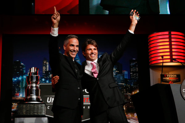 13 October, 2014, New York, New York USA Champions Joao Barbosa and Christian Fittipaldi ©2014, Michael L. Levitt LAT Photo USA