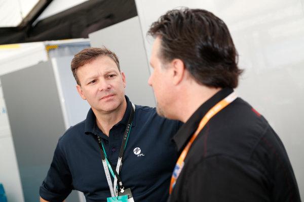 Miami e-Prix 2015. First Practice Session Michael Andretti - Andretti President, Chairman and CEO.  FIA Formula E World Championship. Miami, Florida, USA. Saturday 14 March 2015.  Copyright: Adam Warner / LAT / FE ref: Digital Image _L5R3408
