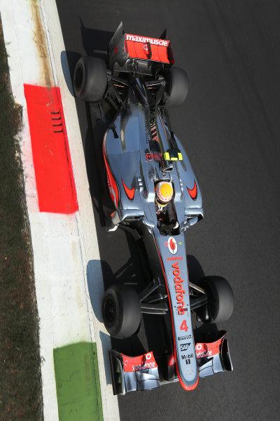 Autodromo Nazionale di Monza, Monza, Italy. 7th September 2012. Lewis Hamilton, McLaren MP4-27 Mercedes.  World Copyright: Steve Etherington/LAT Photographic ref: Digital Image SNE14744 copy