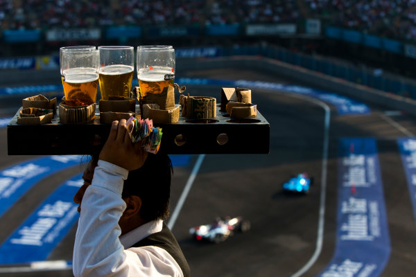2015/2016 FIA Formula E Championship. Mexico City ePrix, Autodromo Hermanos Rodriguez, Mexico City, Mexico. Saturday 12 March 2016. Beverages on offer during the race. Photo: Zak Mauger/LAT/Formula E ref: Digital Image _79P3766