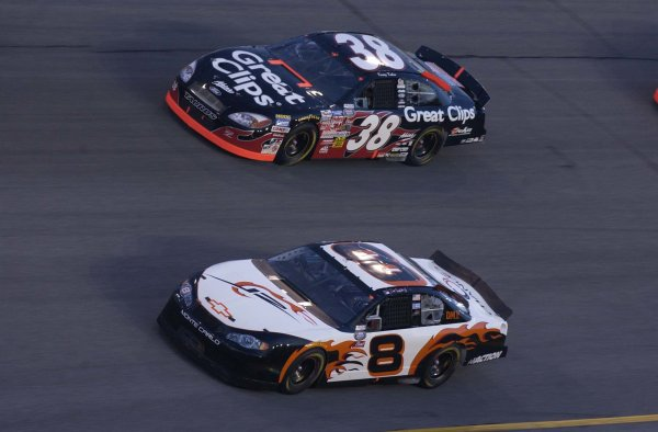 2003 NASCAR, Pepsi 400, Daytona Florida, July 03-04,2003Dale Earnhardt jr and Kasey Kahne lead the bgn cars to the green flag,-Robert LeSieur 2003LAT Photographic